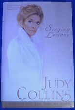 """JUDY COLLINS singer signed autograph """"Singing Lessons"""" hard cover"""