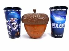 Ice Age 5 Collision Course(2016) Acorn Nut Popcorn Bucket Set Movie Film 2 Cup