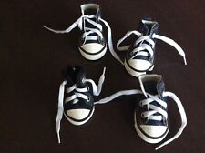 Sparkle Canvas denim Sneakers for Dogs - XS - M Easy on off Set of 4