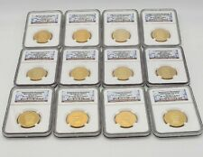 Gold Presidential Dollar Set NGC PR70 Ultra Cameo all 39 Coins
