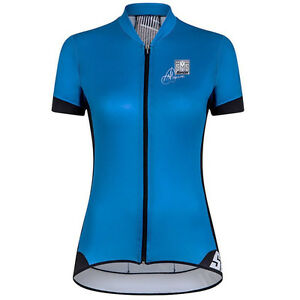 Women's Anna Meares: Gold Aero Short Sleeve Cycling Jersey - Turquoise by Santin