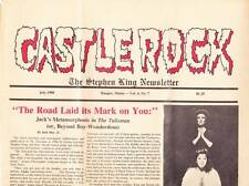 CASTLE ROCK July 1988 - STEPHEN KING NEWSLETTER - CARRIE musical, THE TALISMAN