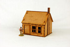 North American  HOUSE with STONE CHIMNEY #5 28mm Terrain M017