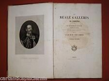 """LIBRO ANTICO LEGATURA  """"REALE GALLERIA DI TORINO ILLUSTRATA"""" 1836 Volume II"""