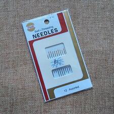 Self-Threading 12pcs Two Holes Blind Needles For Leather Craft DIY  Needles Set