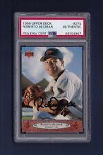 Roberto Alomar signed Baltimore Orioles 1996 Upper Deck baseball card Psa/Dna