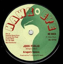 "GREGORY ISAACS-john public   hawkeye 7""    (hear)  reggae roots"