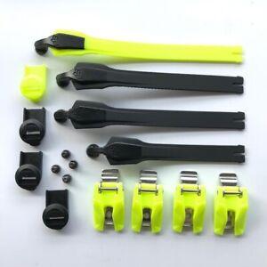 NEW Fox Racing 2020 Instinct MX Boot Strap/Buckle/Pass Kit - Black/Fluo Yellow
