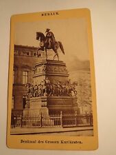 Berlin - Denkmal des Grossen Kurfürsten - Großer Kurfürst / CDV