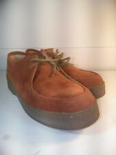 LL Bean Casual Shoe, Suede Leather Moc Toe Crepe Soul Low Top Chukka 10M Outdoor
