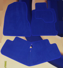 VW GOLF MK5 BRIGHT BLUE CAR MATS 2004 - 2007 WITH 4  ROUND LOCATOR CLIPS