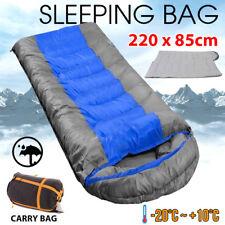 Thermal Single Outdoor Camping Sleeping Bag Envelope Hiking Mat Winter -20°C