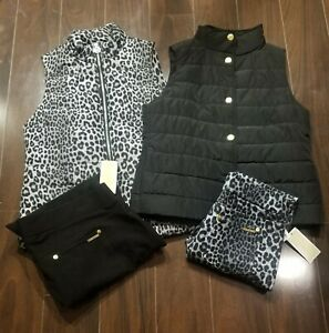 New Michael Kors MIX n Match Leggings (pants) & MK Vests XL Plus size NWT Black