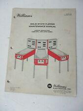 1979 Williams Solid State Flipper Maintenance Manual Gorgar, Laser Ball & later