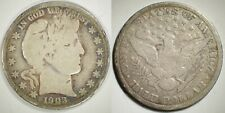 1903-S Barber Half Dollar – Vg, Toned Original (from collection) Free Shipping