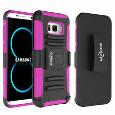 For Samsung Galaxy Note 8 S8 Plus Belt Clip Camo Case Holster Shockproof  Cover