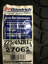1 New 225 45 17 BFGoodrich g-Force Sport Comp-2 Tire