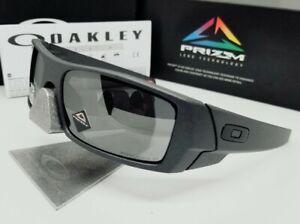 "OAKLEY steel/black ""PRIZM"" POLARIZED ""GASCAN"" OO9014-35 sunglasses! NEW IN BOX!"