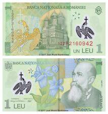 Romania 1 Leu 2005 (2012) Polymer P-117 Banknotes UNC