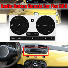 For Fiat 500 Radio Stereo Worn Peeling Button Repair Decals Stickers Replacement