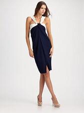 $1995 NWT Donna Karan New York Absolute DRAPED Knot Front Wrap Dress SZ 8/M
