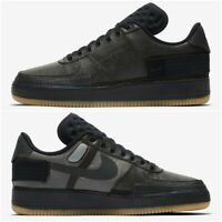 Nike Air Force 1 Type Mens Trainers Black Gum Brown Size 5-13 UK Shoe CJ1281-001
