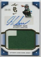 2015 Leaf Perfect Game National Showcase Gold /25 Herbert Iser PHILLIES Jsy Auto