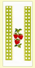 ReTrO VTG Strawberry Time Flour Sack Dish Tea Towel Country Kitchen Cottage Chic