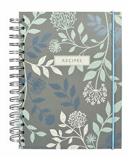 Mirabelle Ring-Bound Recipe Notebook – Chef Blank Book Folder File Hard Cover