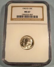 1963-D NGC MS67 ROOSEVELT DIME 10c SILVER MS 67