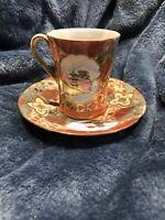 Asian Tea Cup With Saucer