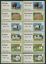WINCOR TYPE II SHEEP NEW 60g RATES IN MATCHED SETS/6 POST & GO FASTSTAMPS