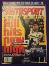 AUTOSPORT - HILL HITS NEW HIGH - 13 April 1995 vol 139 # 2
