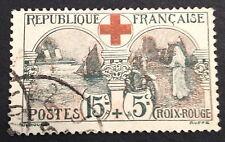 timbre france, n°156c, 15/5c infermiere croix rouge , Obl, CN, cote 70e