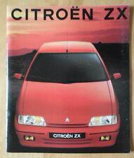 CITROEN ZX range 1991 UK Market prestige sales brochure