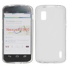 protección silicona transparente negro para Lg e960 Nexus 4