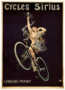"Vintage Art Print - ""Cycles Sirius"" by  H. Gray  - Old French Advertisement"
