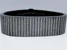 Mens Real Diamond Joe Rodeo Black Stainless Steel Link 24 mm Bracelet 10.35 Ct