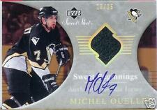 Michel Ouellet Sweet Shot Auto RC Game Used Jersey Beginnings /25 Sp On Card Sig
