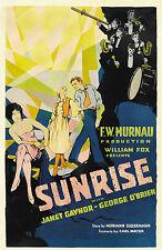 FW Murnau 'Sunrise' Classic 1927 Silent Movie A4 Poster