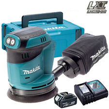Makita DBO180Z 18V 125mm Orbit Sander with 1 x 5.0Ah Battery & Charger in Case