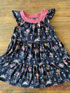 Beautiful Tea Collection Layered Flare Dress With Flower Pattern Size 10