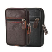 Mens Leather Wallet ID Credit Card Holder Clutch Bifold Pocket Zip Up Coin Purse