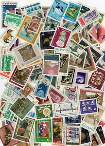 Bulgaria bulk lot stamps, well over 100 stamps, mostly precancel with gum