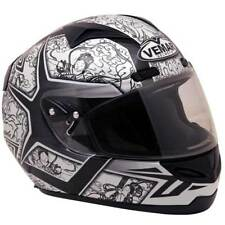 Vemar Eclipse Lost Times Full Face Motorcycle Helmet White Black XLarge XL