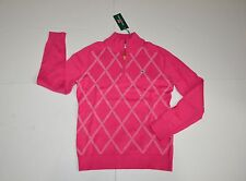 New Vineyard Vines Quarter Zip Paker Sweater Rhododendron Size S $145