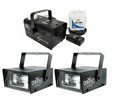 (2) Chauvet DJ CH-730 Mini Strobe LED Lights w/ Hurricane 700 H700 Fog Machine