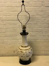 Vintage Possibly Antique Limoges Style Porcelain Lamp with Butterfly Decorations