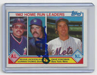 1983 BREWERS Gorman Thomas signed HR Leaders card Topps #702 AUTO Autographed