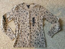 New*GAP Women's Leopard Print Cardigan in Size S/Small*Brown*Button-Up